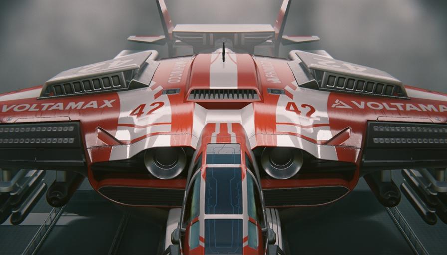Asteroid Racing Ship
